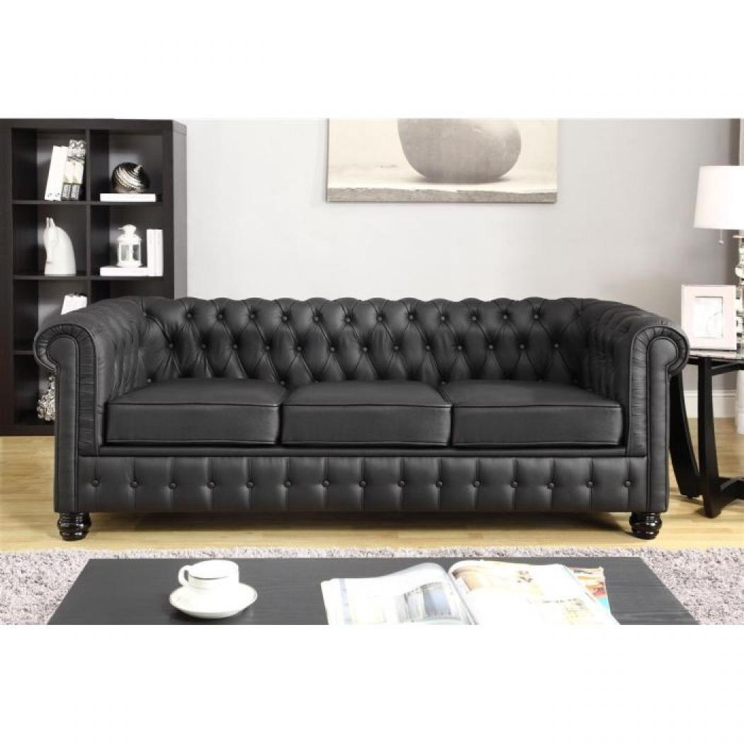 Photos canap chesterfield convertible cuir for Canape chesterfield convertible