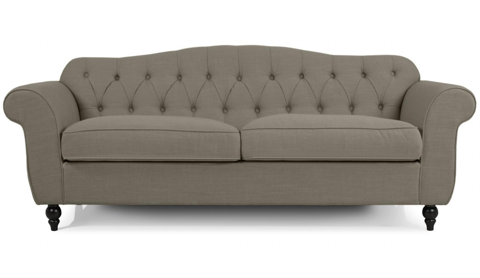 Canape chesterfield tissu for Canape chesterfield