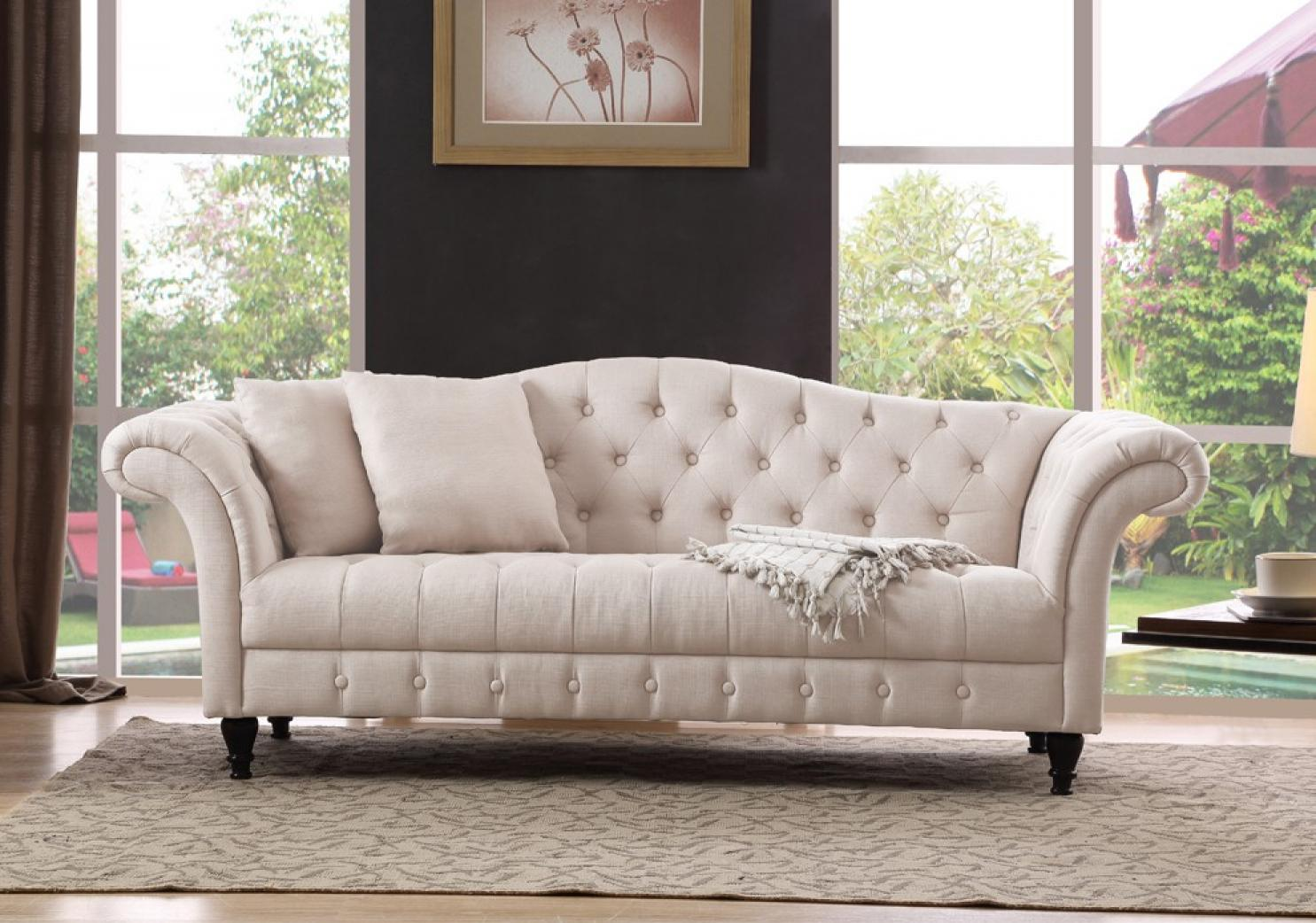 Photos canap chesterfield tissu pas cher - Canape chesterfield cuir gris ...