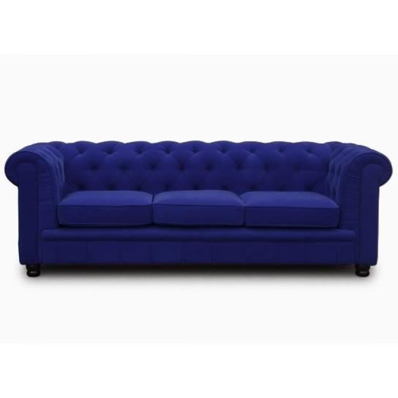 Photos canap chesterfield tissu bleu - Canape chesterfield tissus ...