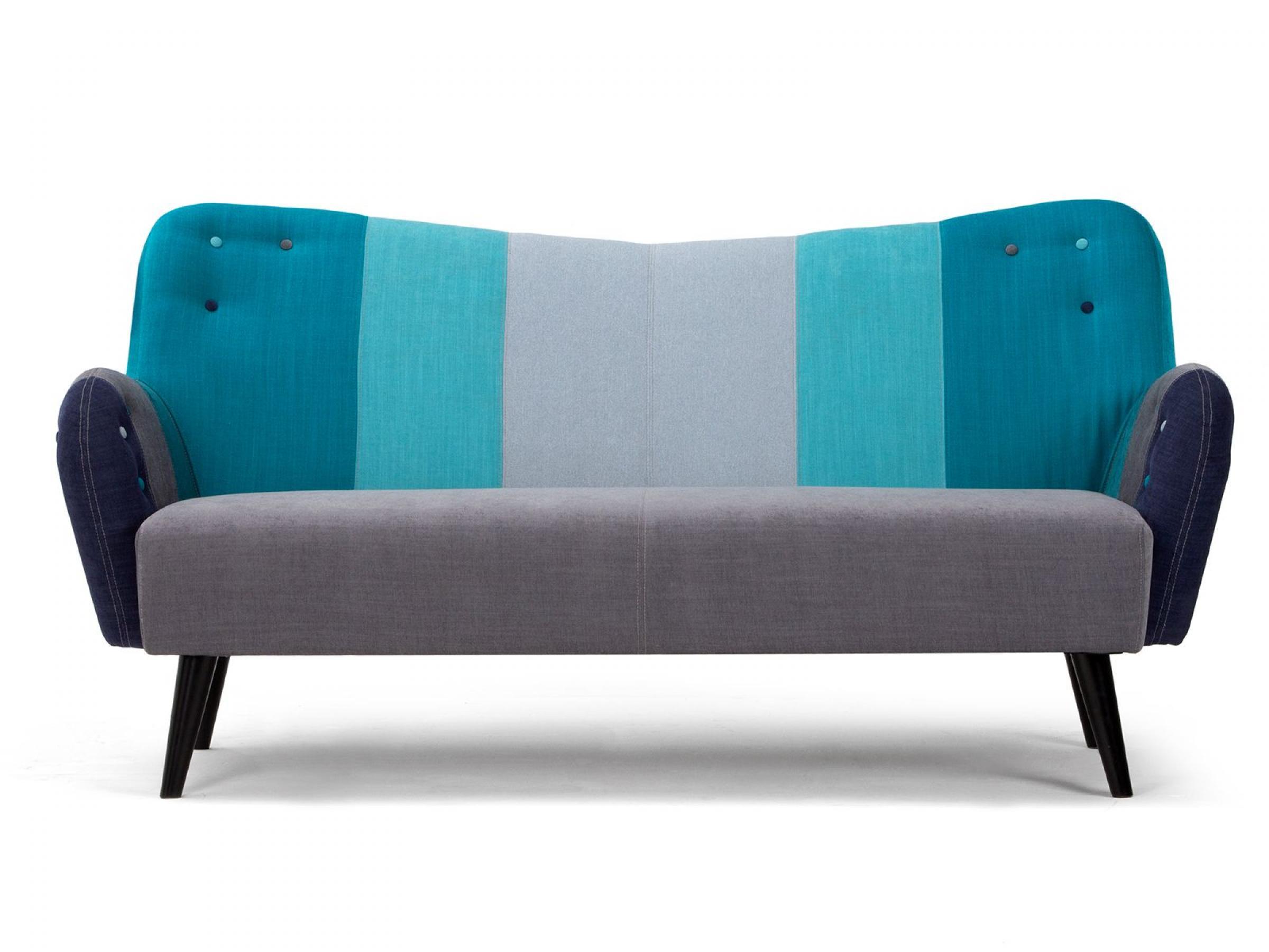 photos canap chesterfield tissu bleu. Black Bedroom Furniture Sets. Home Design Ideas