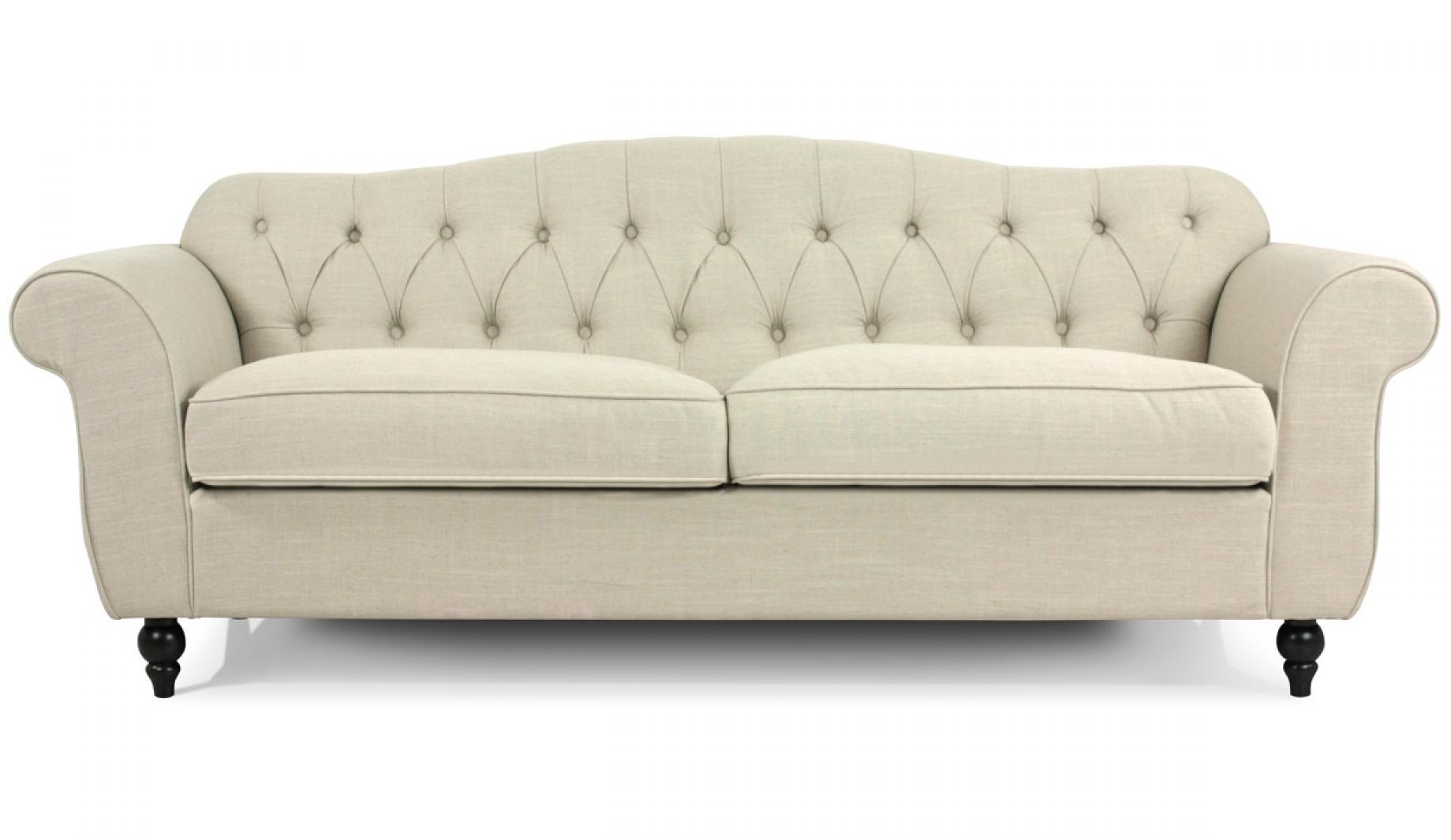 photos canap chesterfield tissu beige. Black Bedroom Furniture Sets. Home Design Ideas