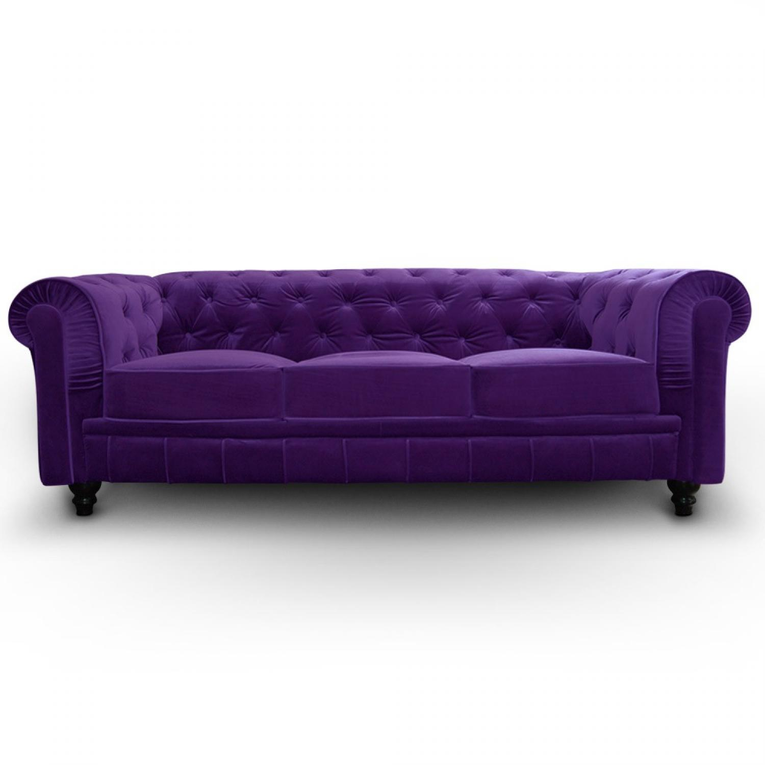 Photos canap chesterfield velours violet - Canape chesterfield violet ...