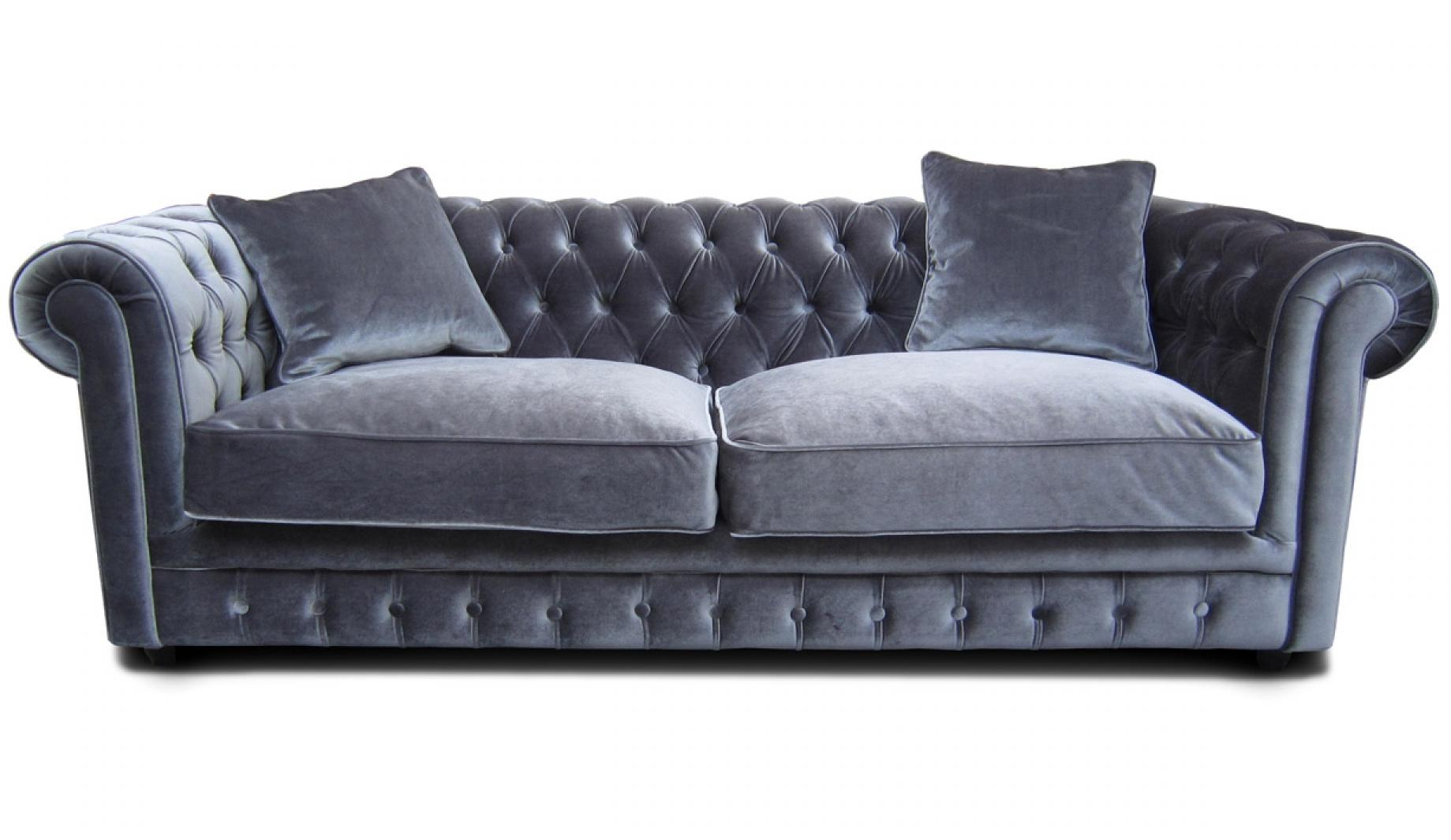 Photos canap chesterfield velours convertible - Canape chesterfield convertible ...