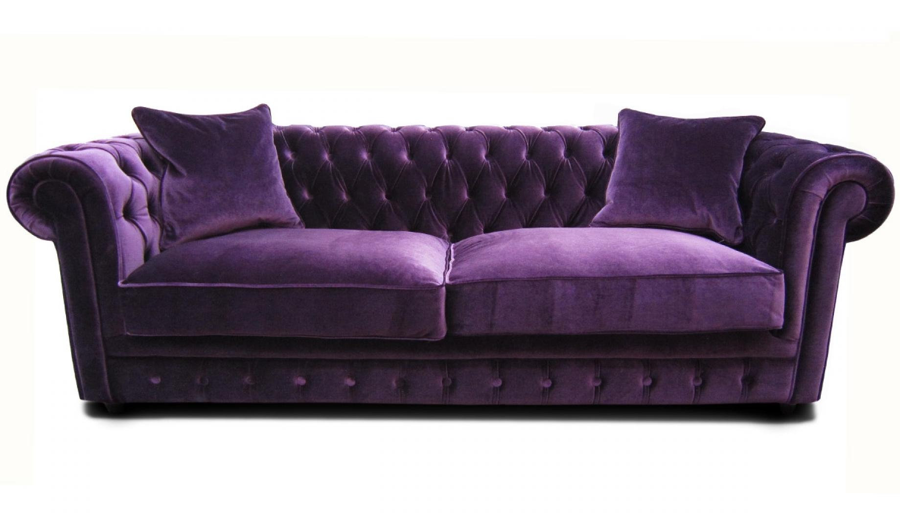 Photos canap chesterfield velours convertible for Chesterfield canape
