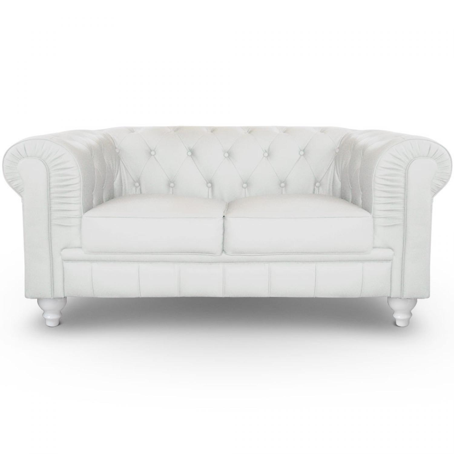 Awesome Canape Chesterfield Blanc