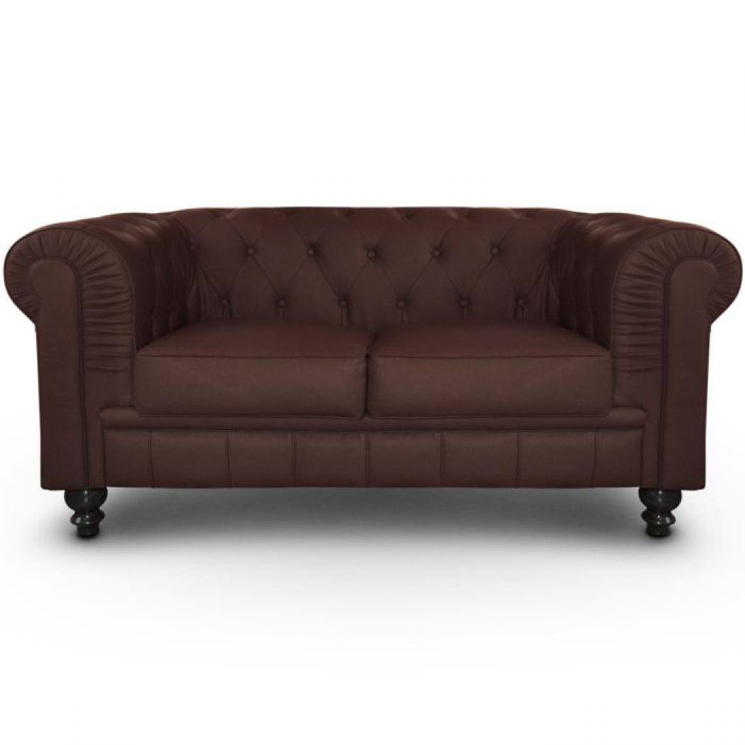 Photos canap chesterfield pas cher 2 places - Canape marron pas cher ...