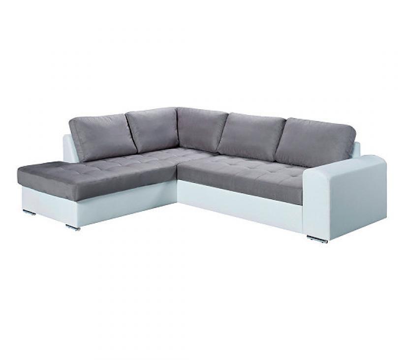 Photos canap d 39 angle convertible gris et blanc for Canape gris et blanc