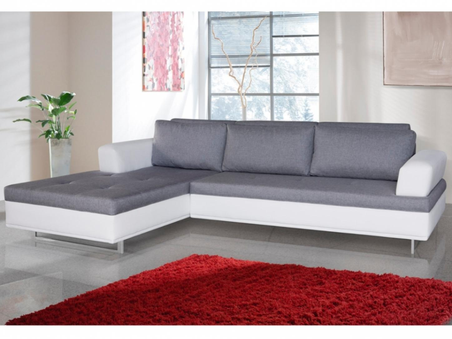 photos canap d 39 angle convertible gris et blanc. Black Bedroom Furniture Sets. Home Design Ideas