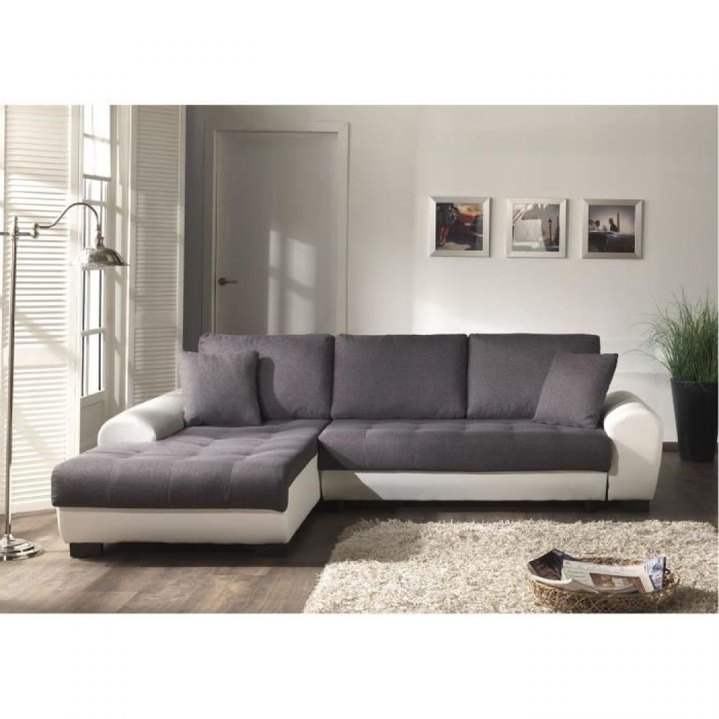 photos canap d 39 angle convertible gris pas cher. Black Bedroom Furniture Sets. Home Design Ideas