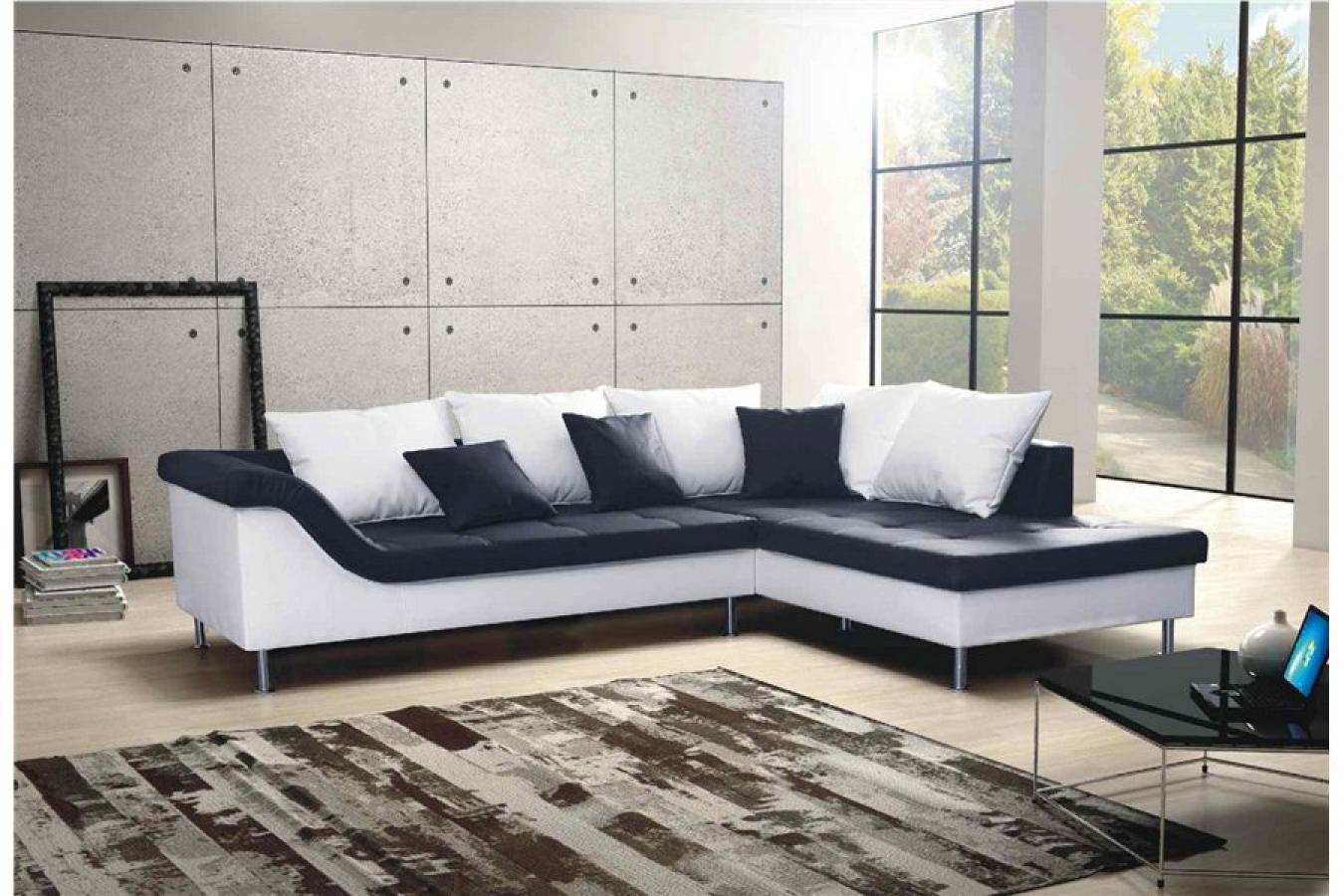 photos canap d 39 angle convertible noir et blanc pas cher. Black Bedroom Furniture Sets. Home Design Ideas