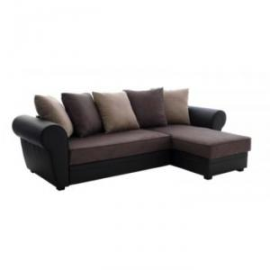 photos canap d 39 angle convertible marron fly. Black Bedroom Furniture Sets. Home Design Ideas