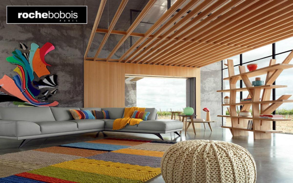 Photos canap modulable cuir contemporain roche bobois - Canape mah jong roche bobois prix ...