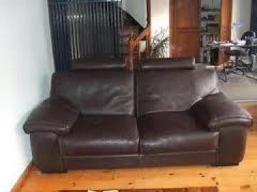 photos canap 2 places cuir marron. Black Bedroom Furniture Sets. Home Design Ideas