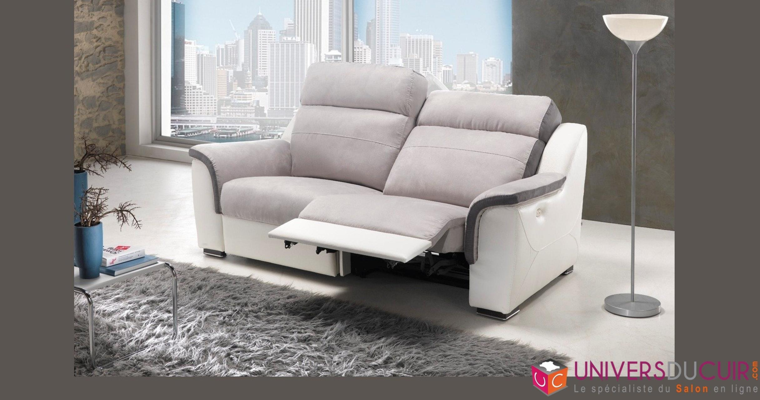 photos canap 2 places relax microfibre. Black Bedroom Furniture Sets. Home Design Ideas