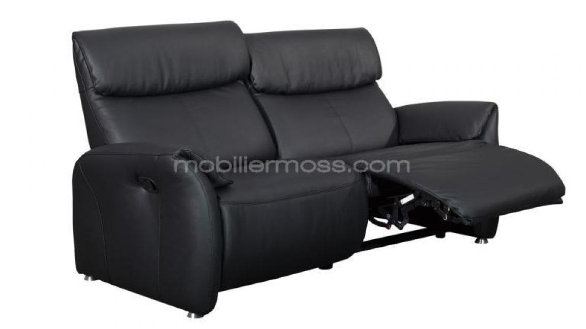 photos canap 2 places relaxation lectrique cuir. Black Bedroom Furniture Sets. Home Design Ideas