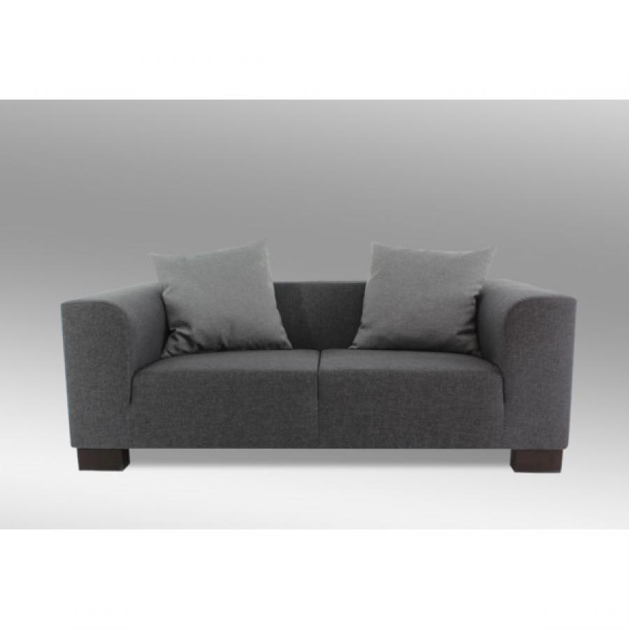 Photos canap 2 places tissu gris - Canape 2 places habitat ...