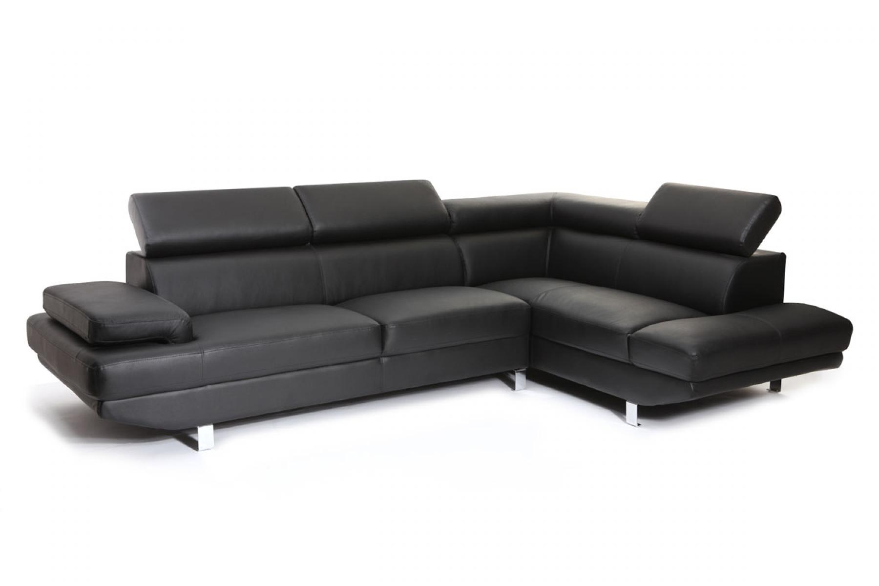 Photos canap d 39 angle cuir noir convertible - Canape angle cuir but ...