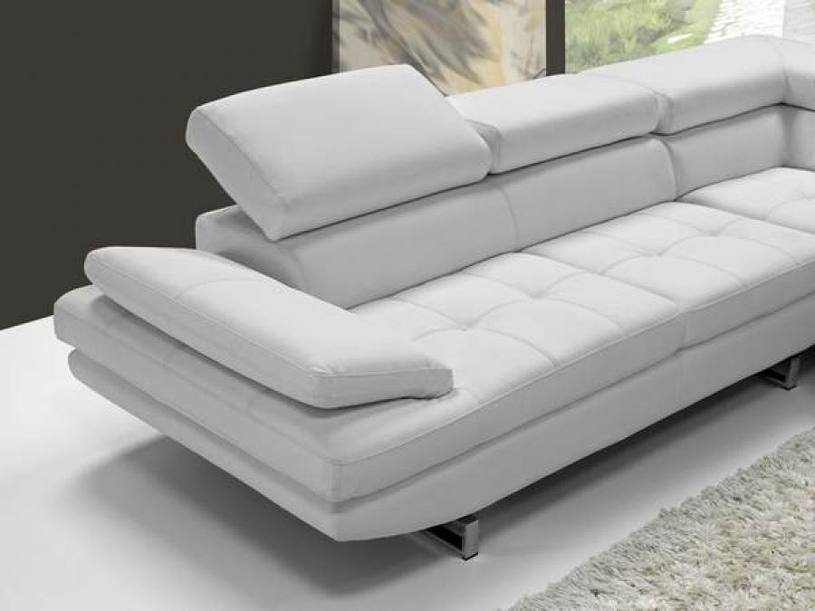 Photos canap d 39 angle cuir blanc design - Canapes modulables italiens design ...
