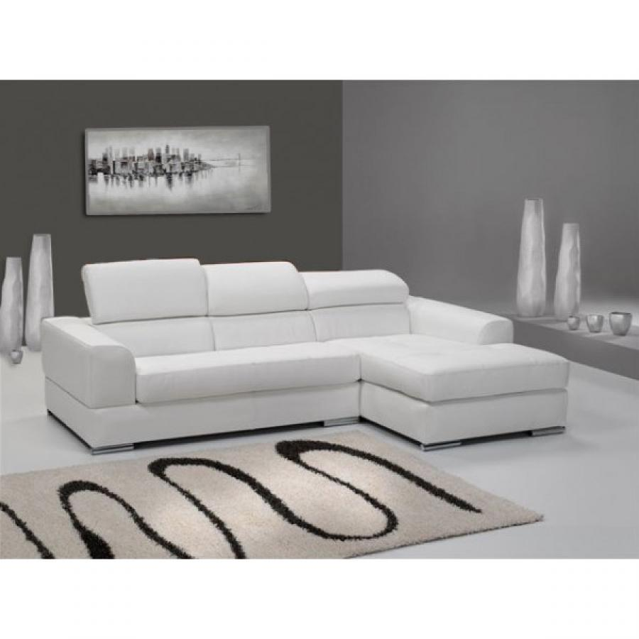 canape cuir blanc pas cher maison design. Black Bedroom Furniture Sets. Home Design Ideas