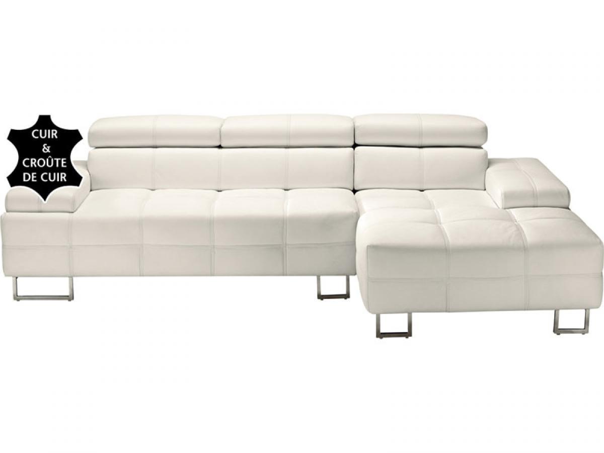 Canap cuir blanc conforama table de lit - Salon conforama cuir ...