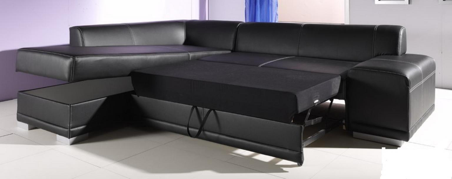 photos canap d 39 angle cuir convertible avec coffre de rangement. Black Bedroom Furniture Sets. Home Design Ideas