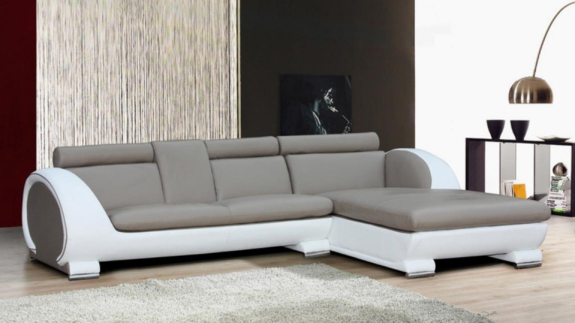 Photos canap d 39 angle cuir convertible design - Canapes modernes contemporains ...