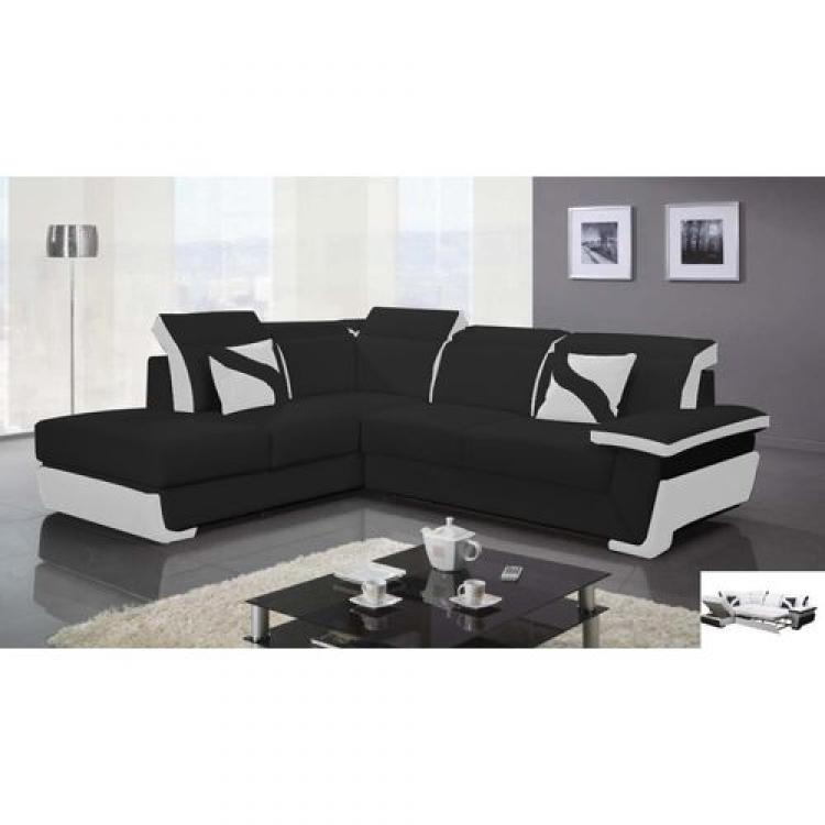photos canap d 39 angle cuir convertible design. Black Bedroom Furniture Sets. Home Design Ideas