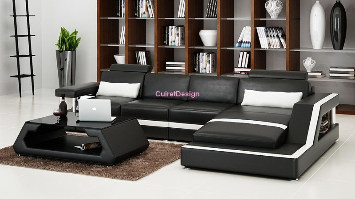 photos canap d 39 angle cuir design pas cher. Black Bedroom Furniture Sets. Home Design Ideas