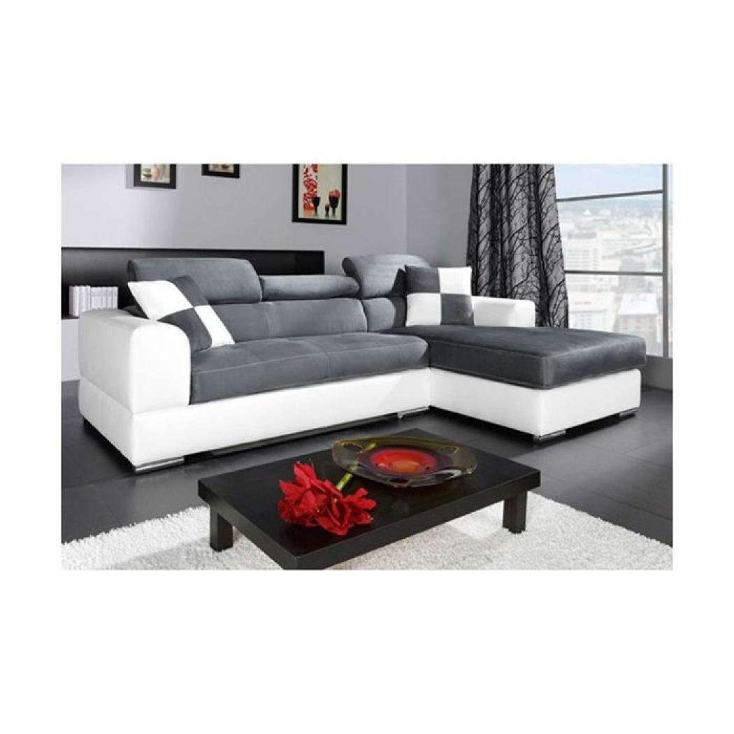 photos canap d 39 angle cuir gris pas cher. Black Bedroom Furniture Sets. Home Design Ideas