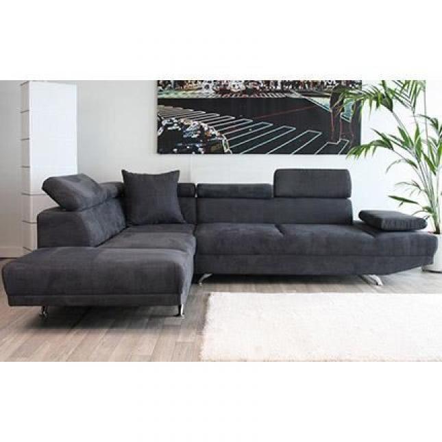 photos canap d 39 angle gris anthracite pas cher. Black Bedroom Furniture Sets. Home Design Ideas