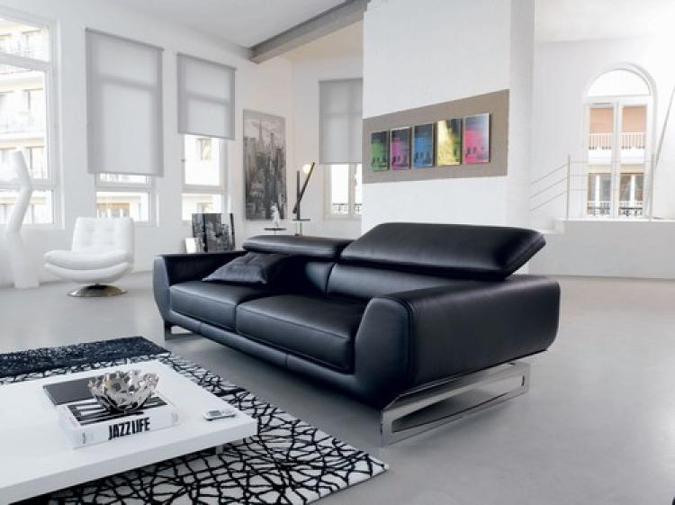 photos canap convertible 2 places cuir center. Black Bedroom Furniture Sets. Home Design Ideas