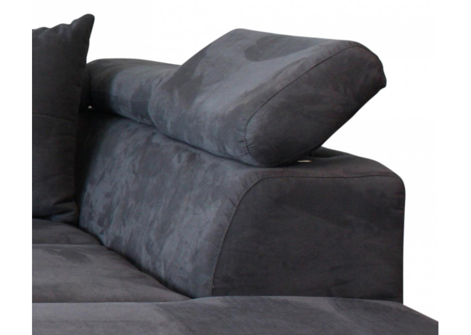 photos canap convertible 3 places tissu microfibre gris totti. Black Bedroom Furniture Sets. Home Design Ideas