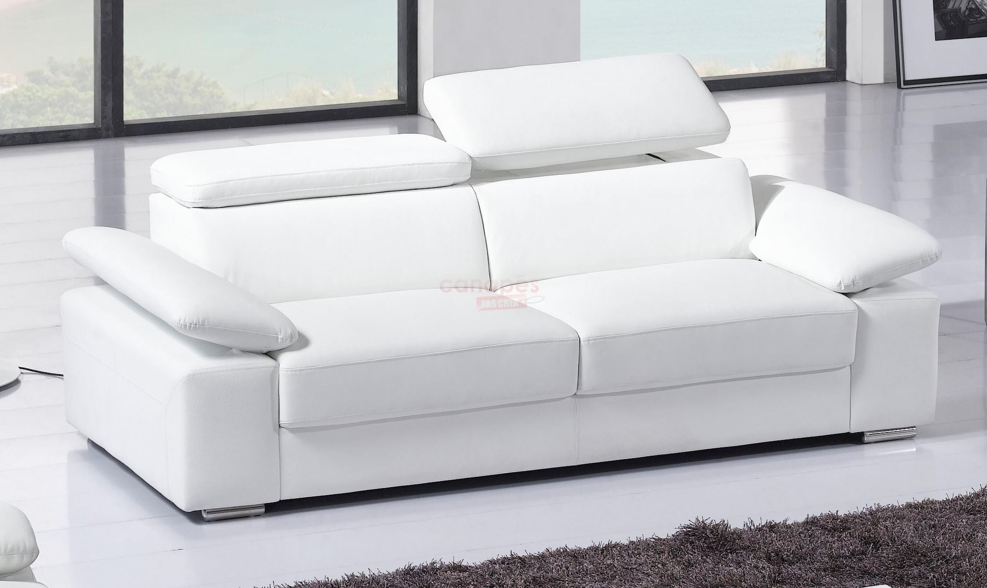 Photos canap convertible cuir 3 places pas cher - Canape cuir confortable ...