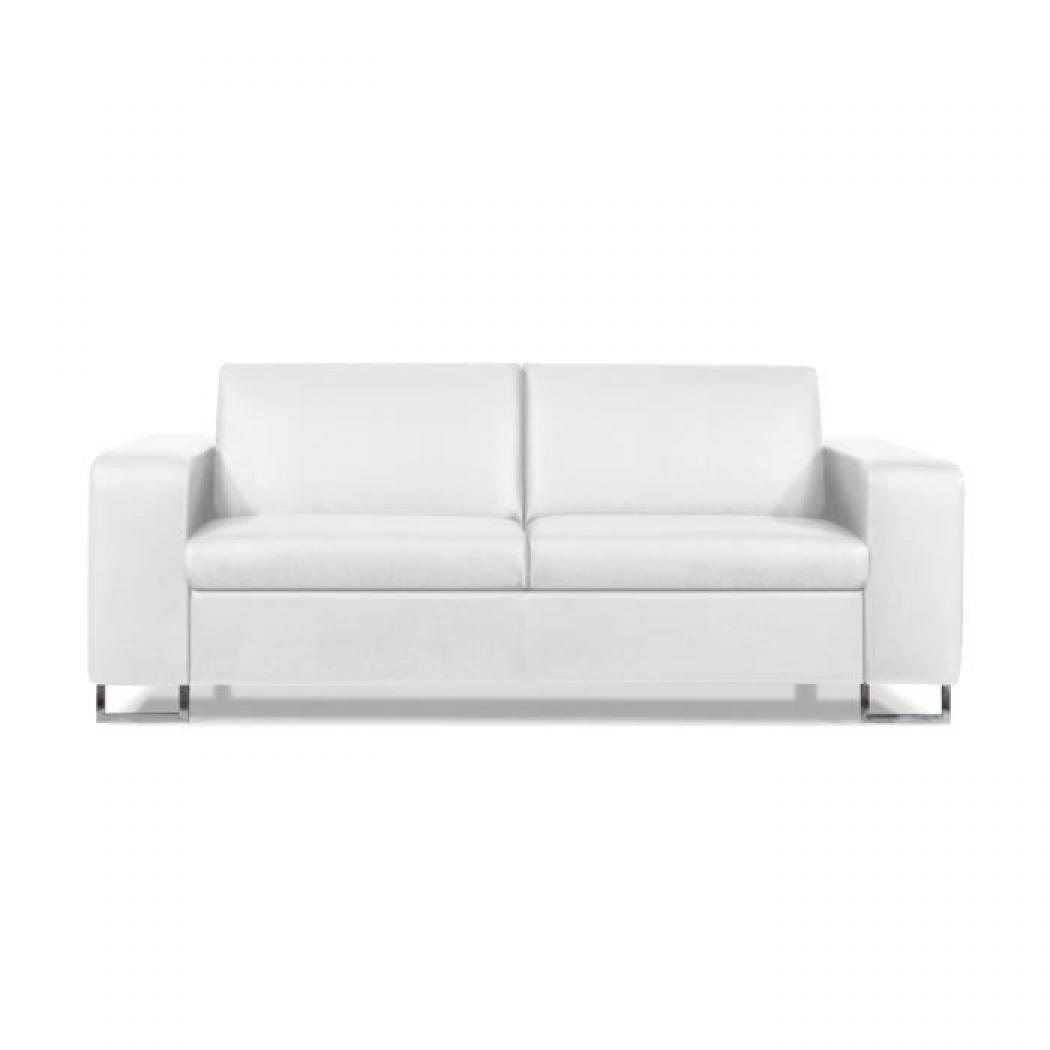 Photos canap convertible cuir blanc 2 places - Canape convertible 6 places ...
