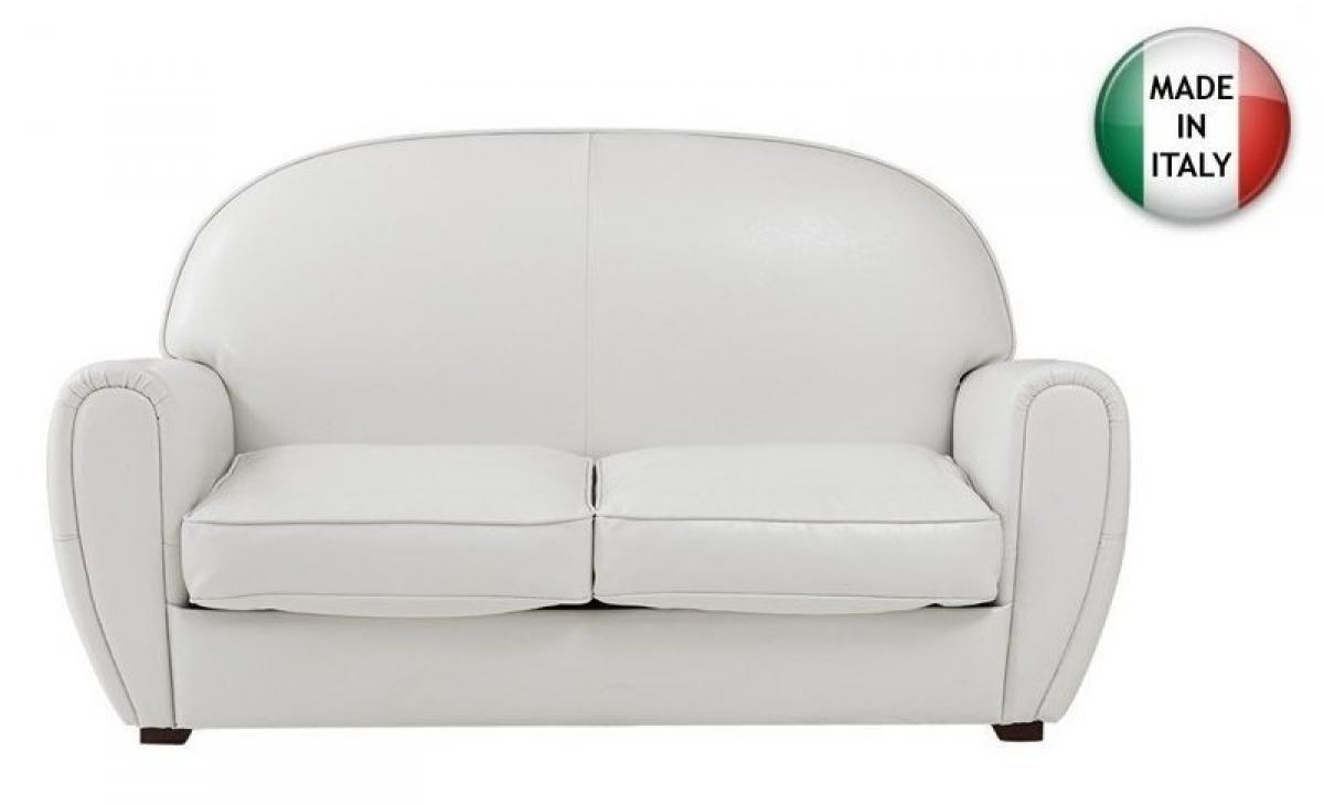 Photos canap convertible cuir blanc 2 places - Canape cuir 7 places ...