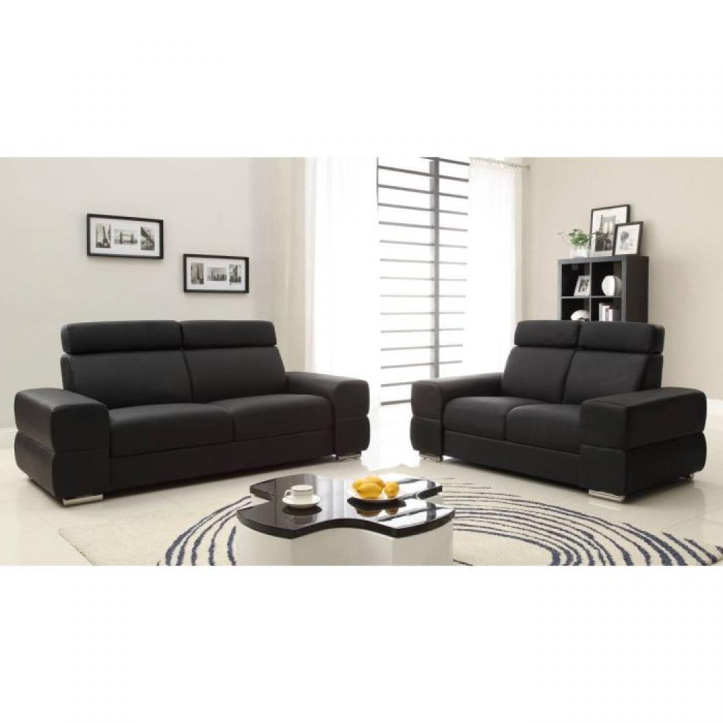 photos canap convertible cuir noir pas cher. Black Bedroom Furniture Sets. Home Design Ideas