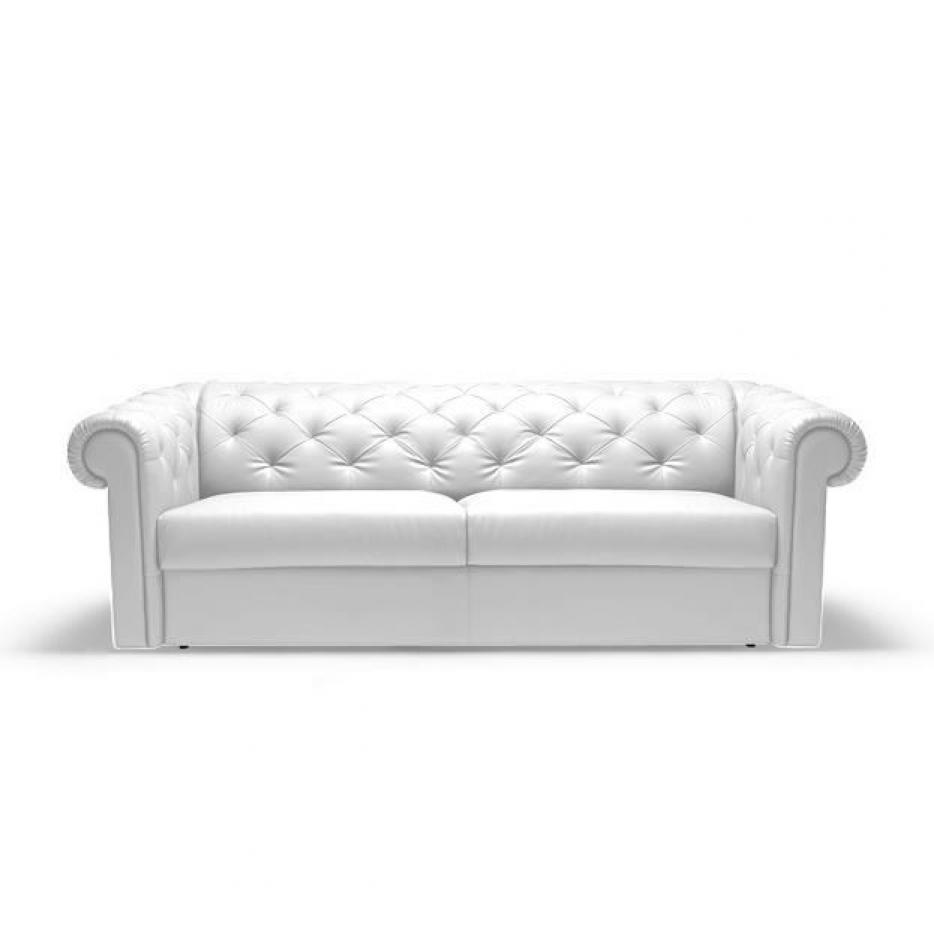 Photos canap chesterfield convertible cuir blanc for Canape chesterfield convertible