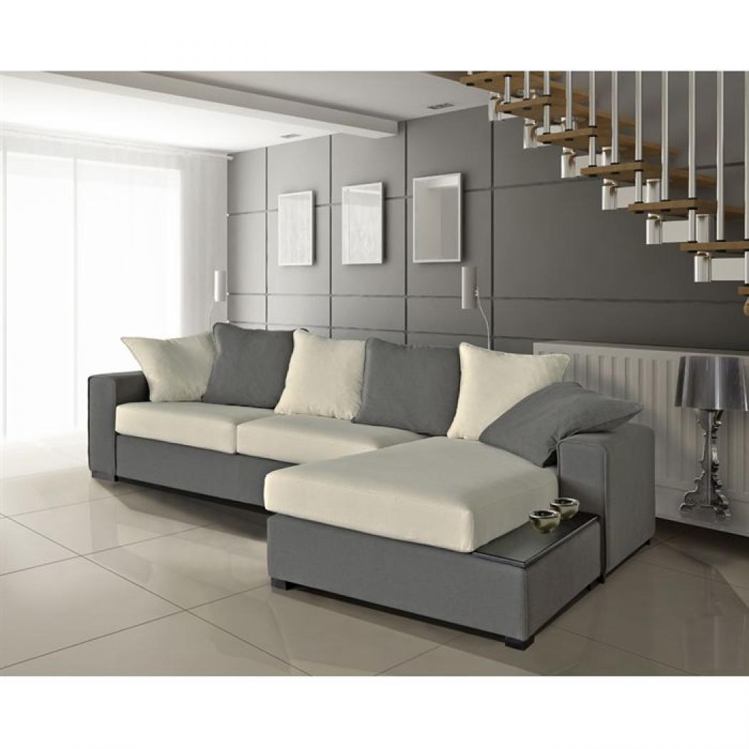 photos canap gris et blanc. Black Bedroom Furniture Sets. Home Design Ideas