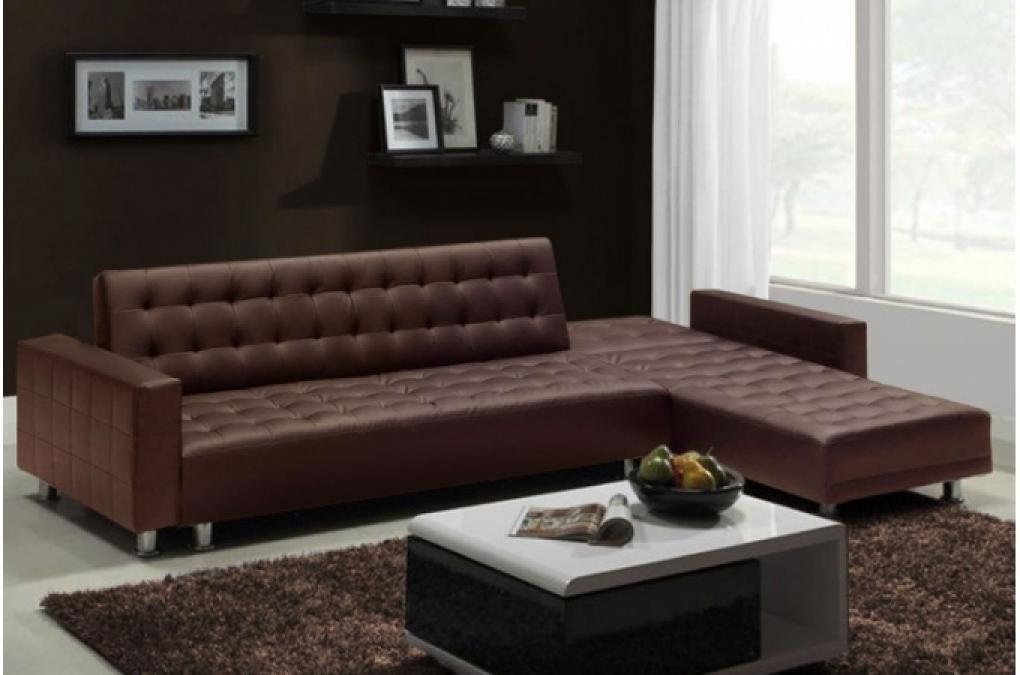 photos canap d 39 angle convertible marron. Black Bedroom Furniture Sets. Home Design Ideas