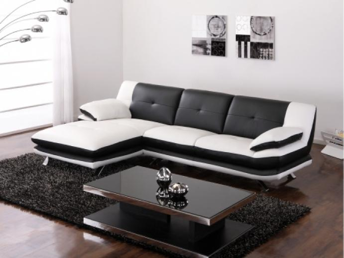 photos canap noir et blanc conforama. Black Bedroom Furniture Sets. Home Design Ideas