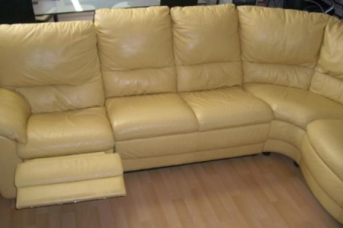 Canape jaune cuir amazing canap jaune cuir with canape - Le bon coin salon cuir ...