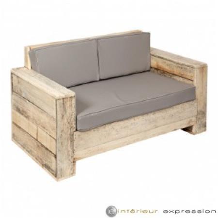 canap en palette avec dossier. Black Bedroom Furniture Sets. Home Design Ideas