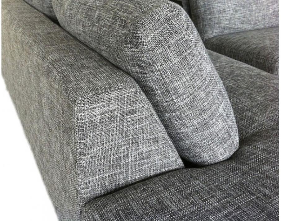 Photos canap tissu gris - Canape haut de gamme tissus ...