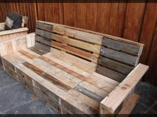 Photos canap palette plan - Fabriquer un fauteuil en palette ...