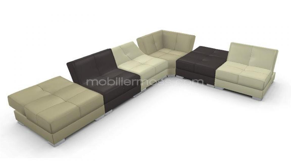 Canape modulable cuir for Banquette canape modulable