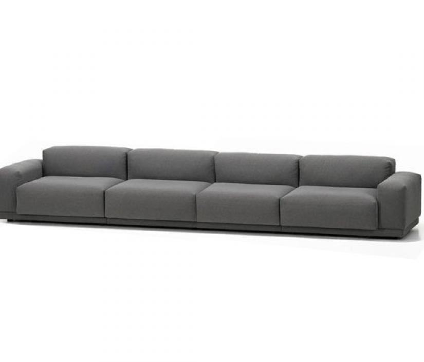 canape droit 4 places. Black Bedroom Furniture Sets. Home Design Ideas