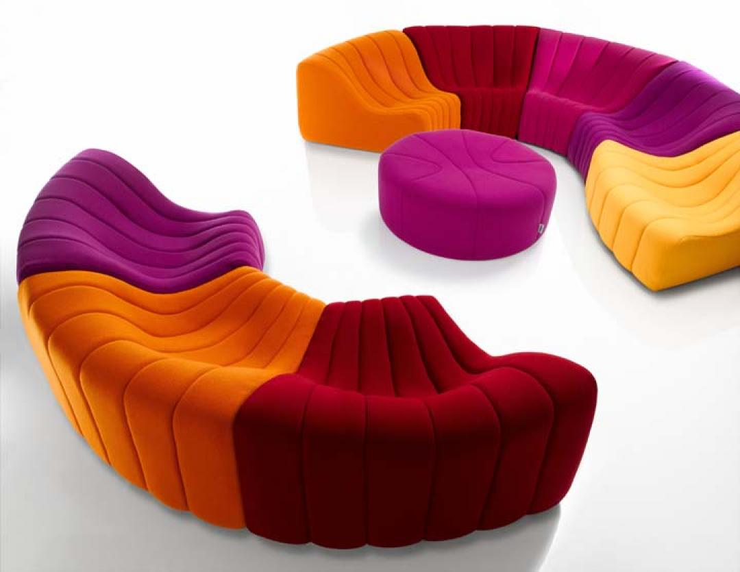 photos canap arrondi fly. Black Bedroom Furniture Sets. Home Design Ideas