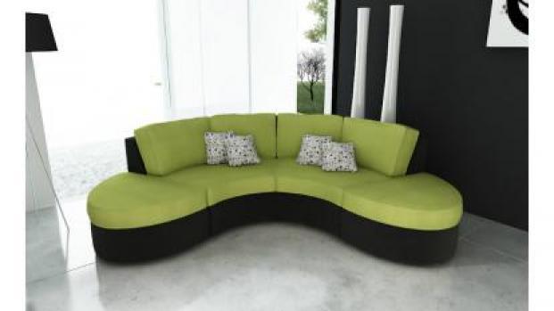 photos canap arrondi noir. Black Bedroom Furniture Sets. Home Design Ideas