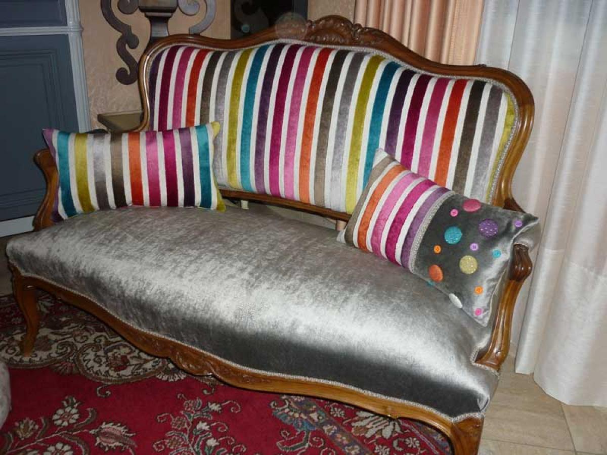 Photos canap ancien relook - Renover un canape en tissu ...